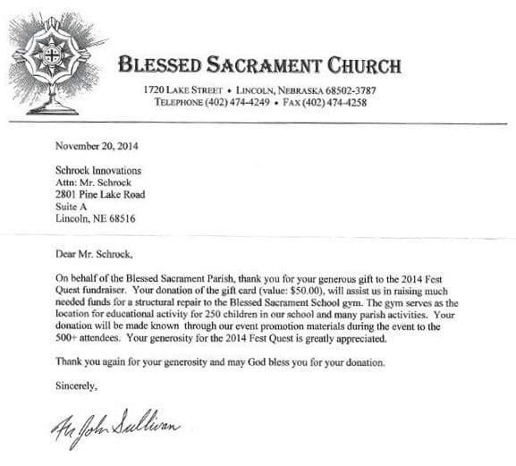 Blessed Sacrament Church 2014 Fest Quest Schrock